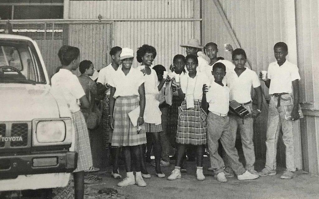 Visite chez un agriculteur en Martinique en 1989