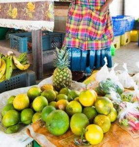 Le marché de Rivière-Salée